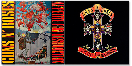 Guns N' Roses - Curiosidades 'Appetite for destruction'